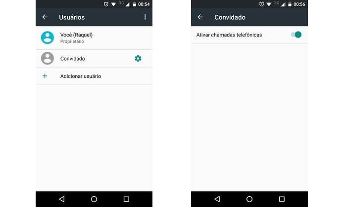 Recurso de usuário convidado permite acessar apps e arquivos através de outro aparelho (Foto: Reprodução/Raquel Freire)