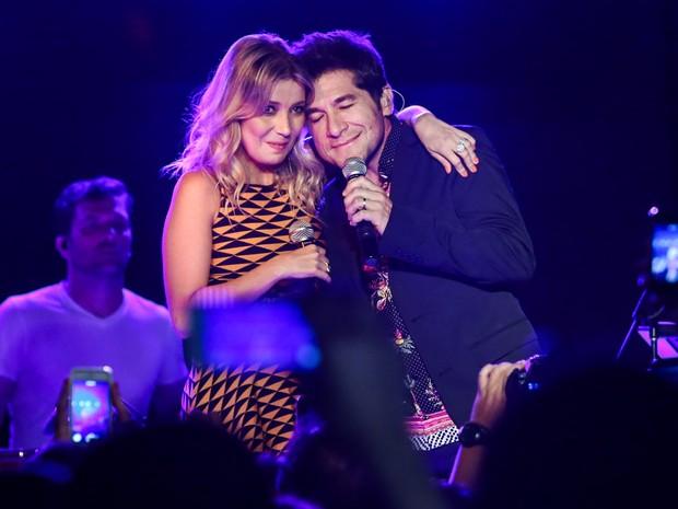Daniel e Luiza Possi em show em São Paulo (Foto: Manuela Scarpa/ Foto Rio News)