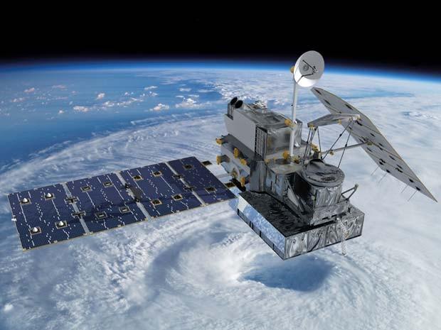Concepção artística mostra o satélite GPM no espaço (Foto: NASA's Goddard Space Flight Center)