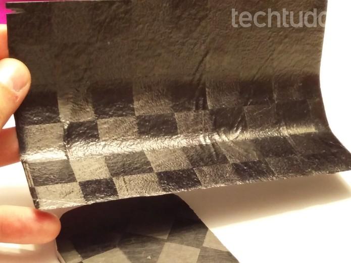 Painel solar flexível do drone do Facebook (Foto: Fabrício Vitorino / TechTudo)
