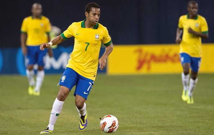 Robinho, Brasil x Chile (Foto: Reuters)