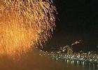 Réveillon em Copacabana  teve fogos,  calor e beijaço (Reprodução / TV Globo)