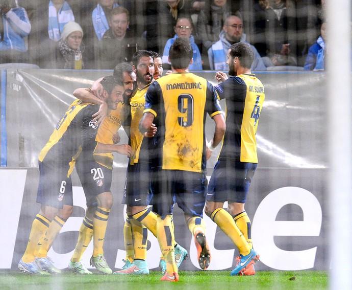 Koke comemora gol do Atlético de MAdrid contra o Malo (Foto: Agência AFP)