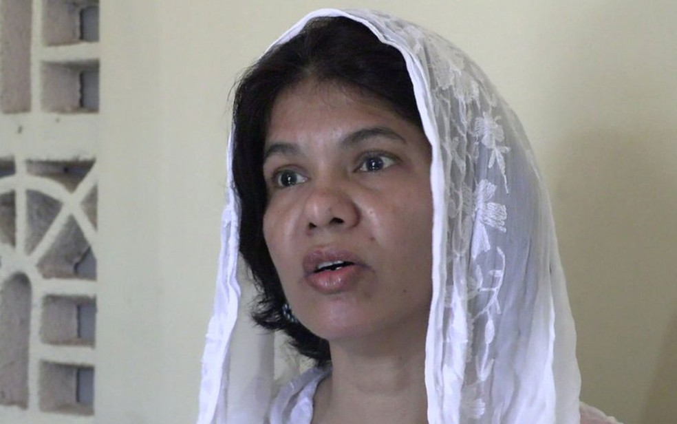 Ativista Shreen Saroor pede à comunidade muçulmana que proteja as meninas (Foto: BBC)