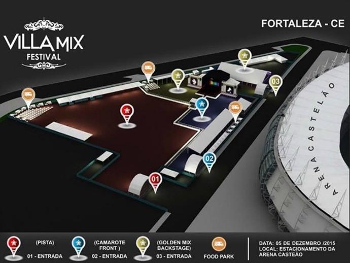Festival acontecerá na área externa do estádio, com mais espaço e maior estrutura (Foto: Divulgação)