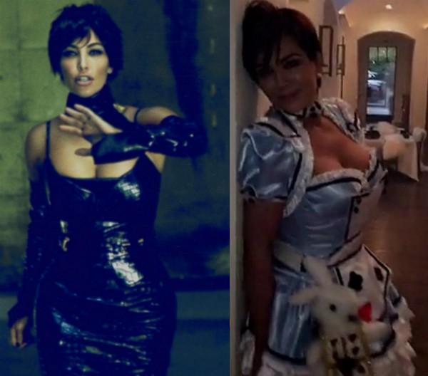 A celebridade Kim Kardashian e a mãe, Kris Jenner (Foto: Reprodução)