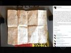 Inglês de 78 anos recebe de volta carta que escreveu aos 6 a Papai Noel