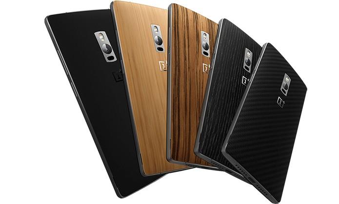 One Plus 2 apresenta traseiras com diferentes texturas e cores (Foto: Divulgação/OnePlus)