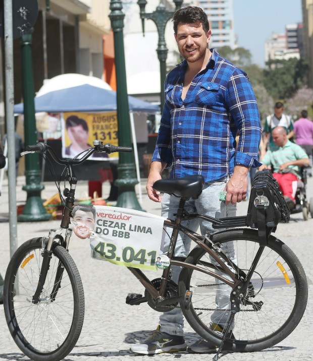 Cezar diz que gastou pouco menos de R$ 1 mil durante a campanha (Foto: Giuliano Gomes/PRPRESS)