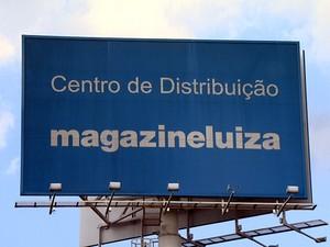 Centro de Distribuição do Magazine Luiza, em Louveira (SP) (Foto: Reprodução EPTV)