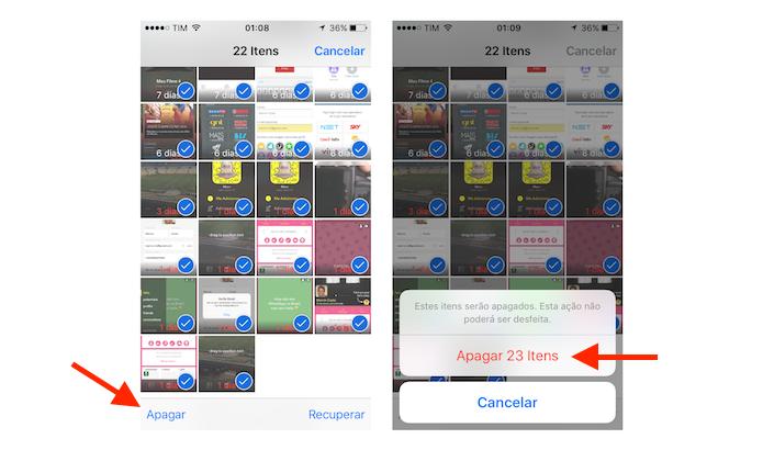 Deletando fotos e vídeos do iPhone sincronizados com o Google Fotos (Foto: Reprodução/Marvin Costa)