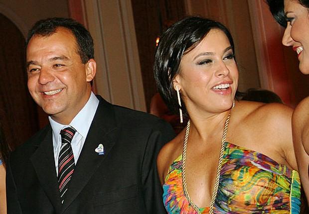 O ex-governador do Rio Sérgio Cabral (PMDB) ao lado da mulher, a advogada Adriana Ancelmo, em evento em 2009 (Foto: Alexandre Campbell/LatinContent/Getty Images)