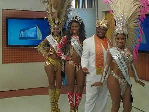 Corte do Carnaval 2015 no MGTV 1ª edição 2 (Foto: Roberta Oliveira/ G1)