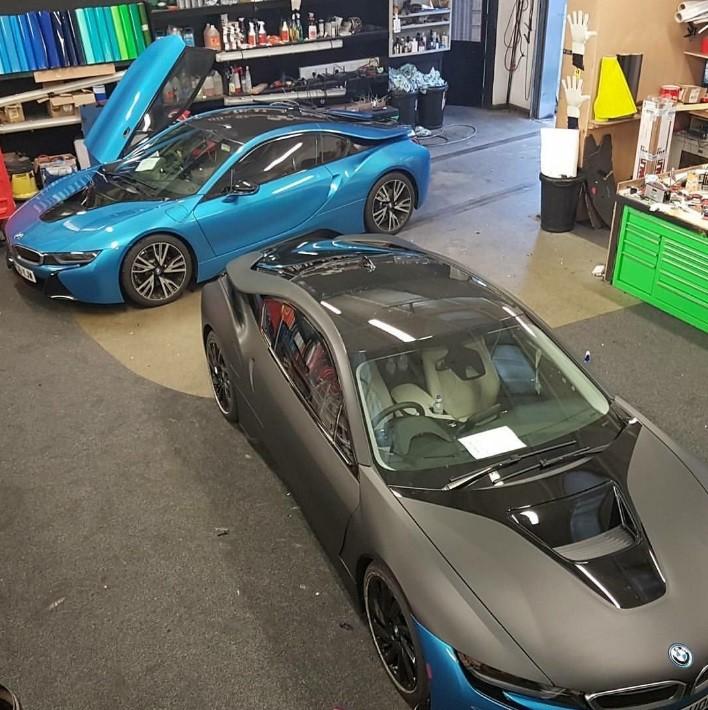 BMW em oficina para customização