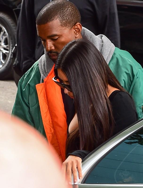 Kim Kardashian e Kanye West (Foto: AKM)