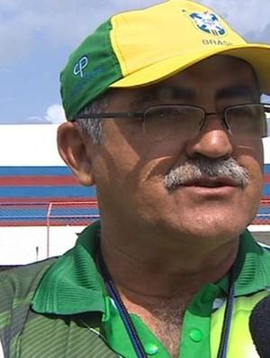 Marcos Mendonça treina o Coritiba (Foto: Reprodução/Tv Sergipe)