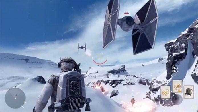 Uma TIE Fighter decola em Star Wars Battlefront (Foto: Divulgação/EA)
