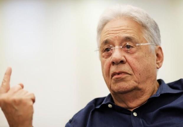 Ex-presidente Fernando Henrique Cardoso (FHC) durante entrevista à Reuters, em São Paulo (Foto: Nacho doce/Reuters)