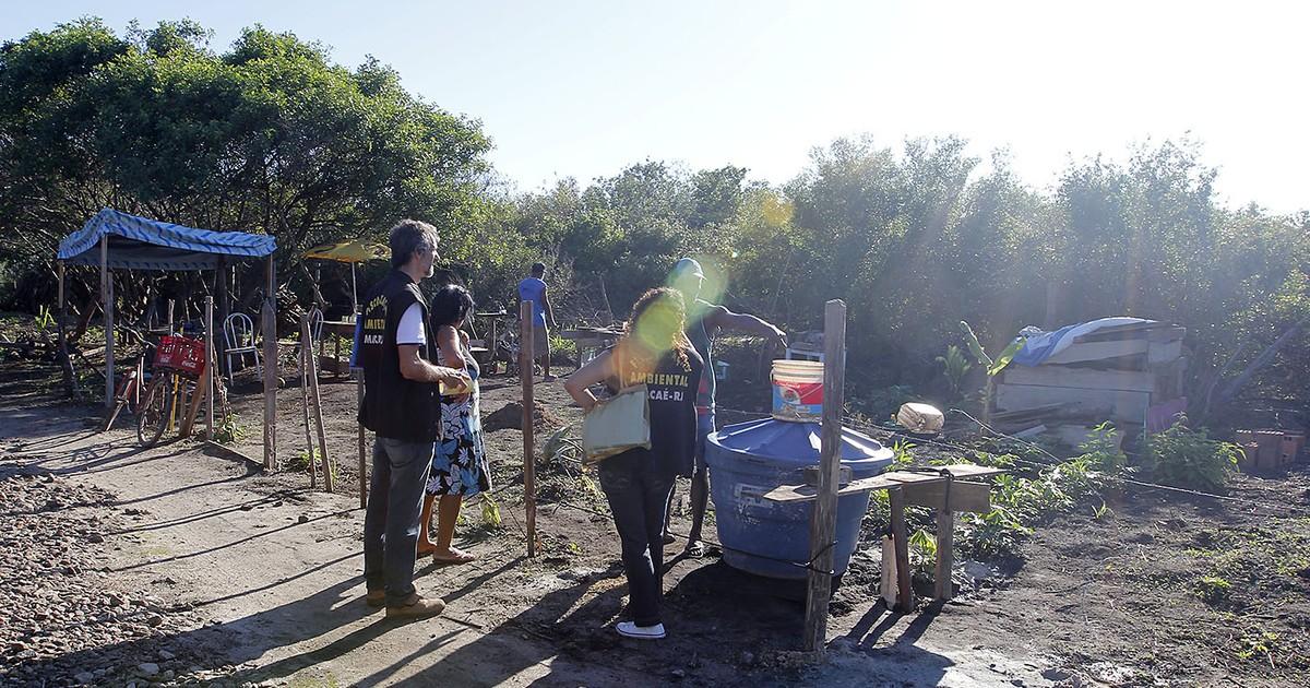 Operação flagra loteamento em área de preservação em Macaé, no ... - Globo.com