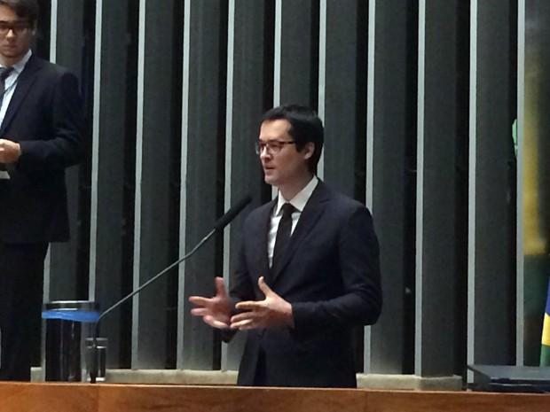 O procurador Deltan Dallagnol durante comissão geral na Câmara (Foto: Vanessa Cezar/G1)