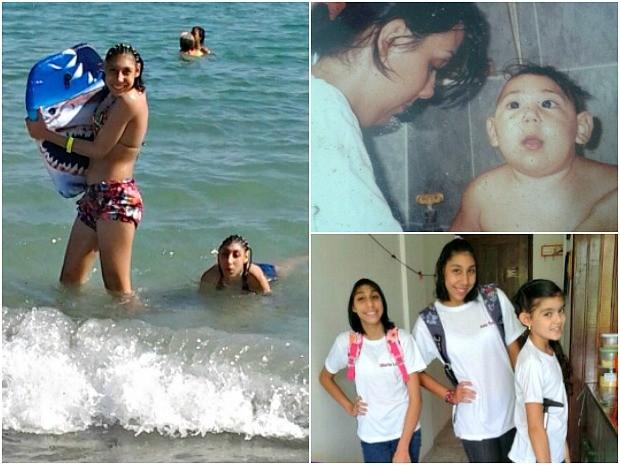 Maria Luíza e Ana Victória gostam de se divertir com a família (Foto: Arquivo Pessoal)
