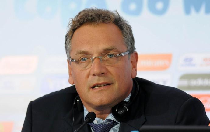 Jerome Valcke coletiva Fifa reunião (Foto: André Durão / Globoesporte.com)