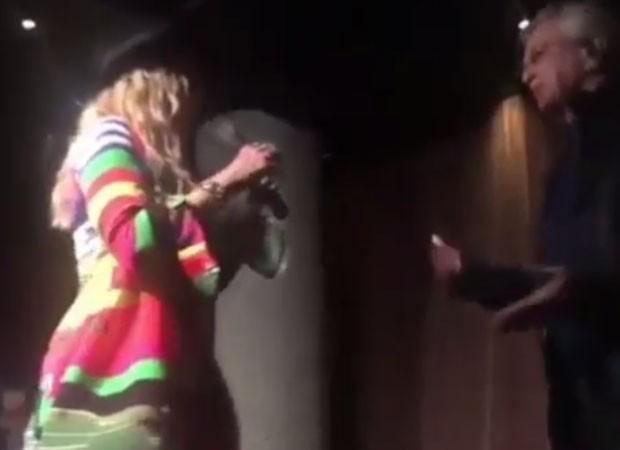 Madonna e Caetano Veloso (Foto: Reprodução)