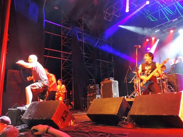 Conquest for Death, no Abril pro Rock (Foto: Katherine Coutinho / G1)