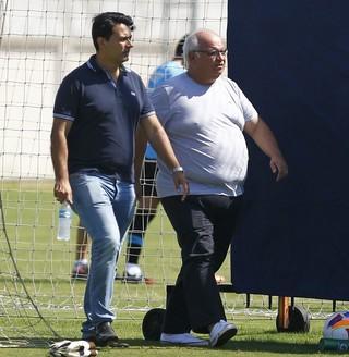 Rui Costa Romildo Bolzan Grêmio (Foto: Lucas Uebel / Grêmio FBPA)
