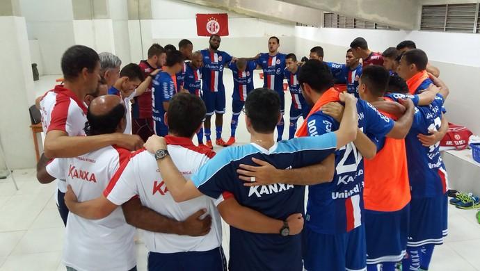 América-RN vestiário (Foto: Canindé Pereira/Divulgação)
