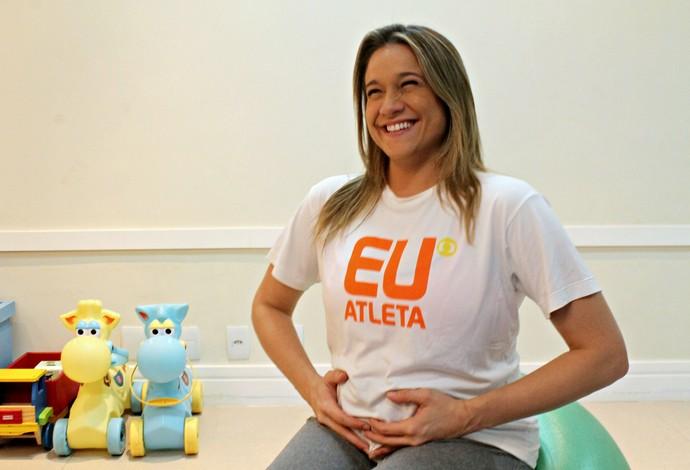 Fernanda Gentil ginástica pré-natal euatleta (Foto: Igor Christ/Eu Atleta)