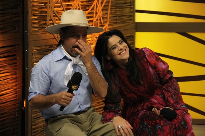 Shana Müller e Neto Fagundes no Galpão Crioulo  (Foto: Divulgação/RBS TV)