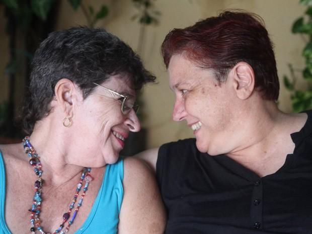Há oito anos, o casal selou a união estável e há três, o casamento civil (Foto: Gustavo Magnunsson/Fotoarena para o G1)