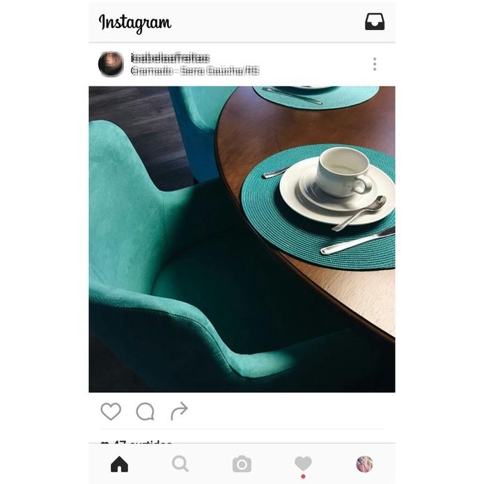 O usuário foi direcionado para a sua conta no Instagram (Reprodução/Carol Danelli)