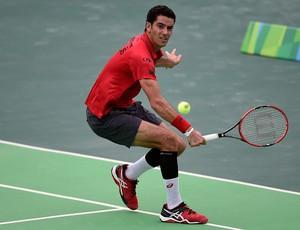André Sá no evento-teste de Tênis no Rio (Foto: Getty Images)