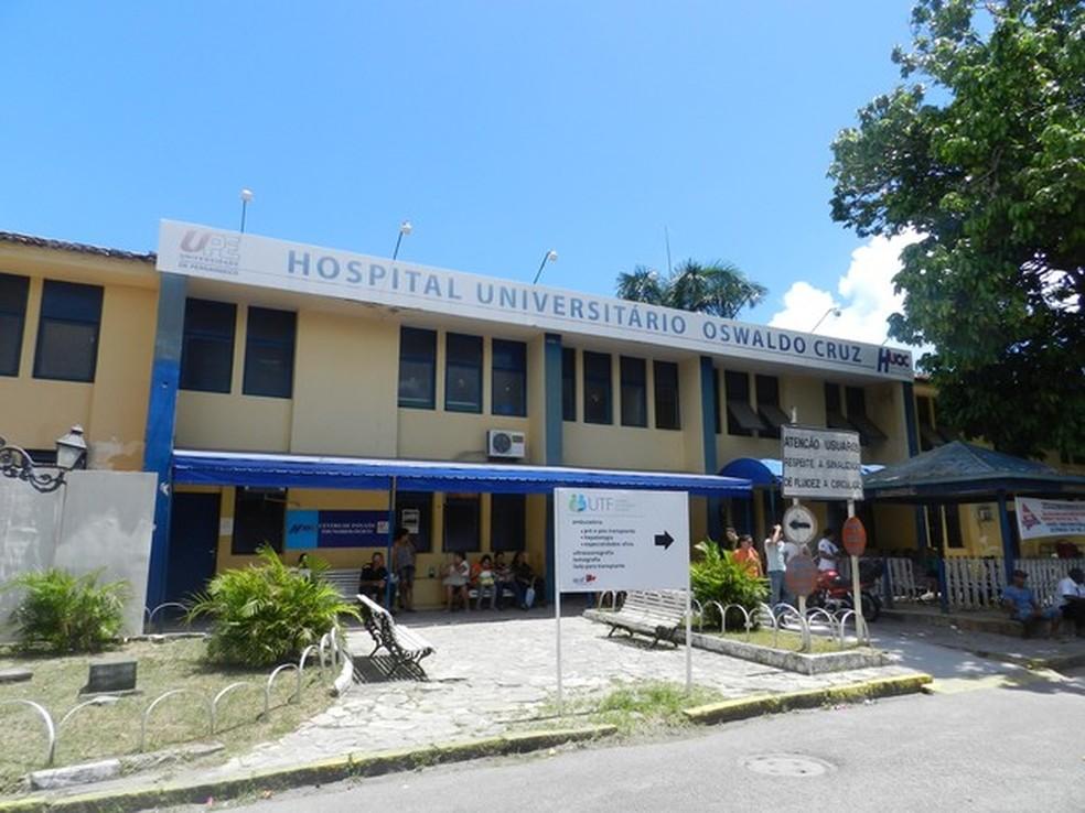 Paciente estava internada desde a segunda (26) no Hospital Universitário Oswaldo Cruz (Foto: Marília Falcão/Divulgação)