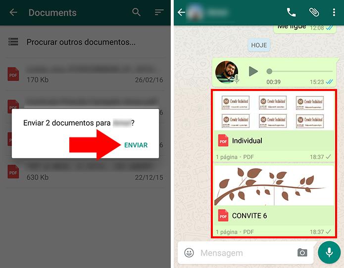 Envie PDF do Drive ou OneDrive pelo WhatsApp (Foto: Reprodução/Paulo Alves)