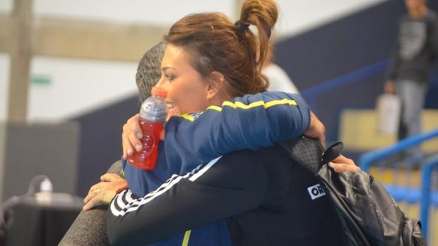 Zé Roberto Katarzyna Skowrońska treino seleção brasileira vôlei (Foto: Murilo Borges)