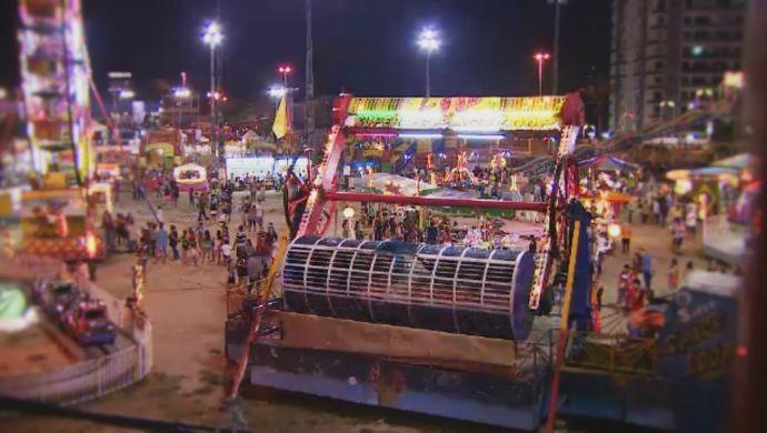 35º Festival Folclórico no CSU do Parque Dez (Foto: Rede Amazônica)