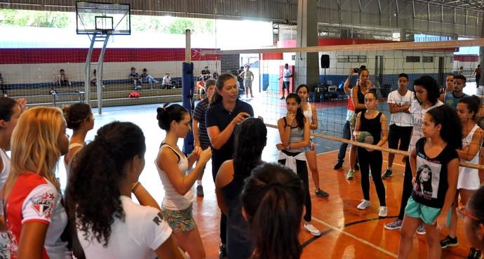 Ana Moser, ex-atleta, vôlei, seleção brasileira, Presidente Prudente (Foto: Taíne Correa / Sesc Thermas, Divulgação)