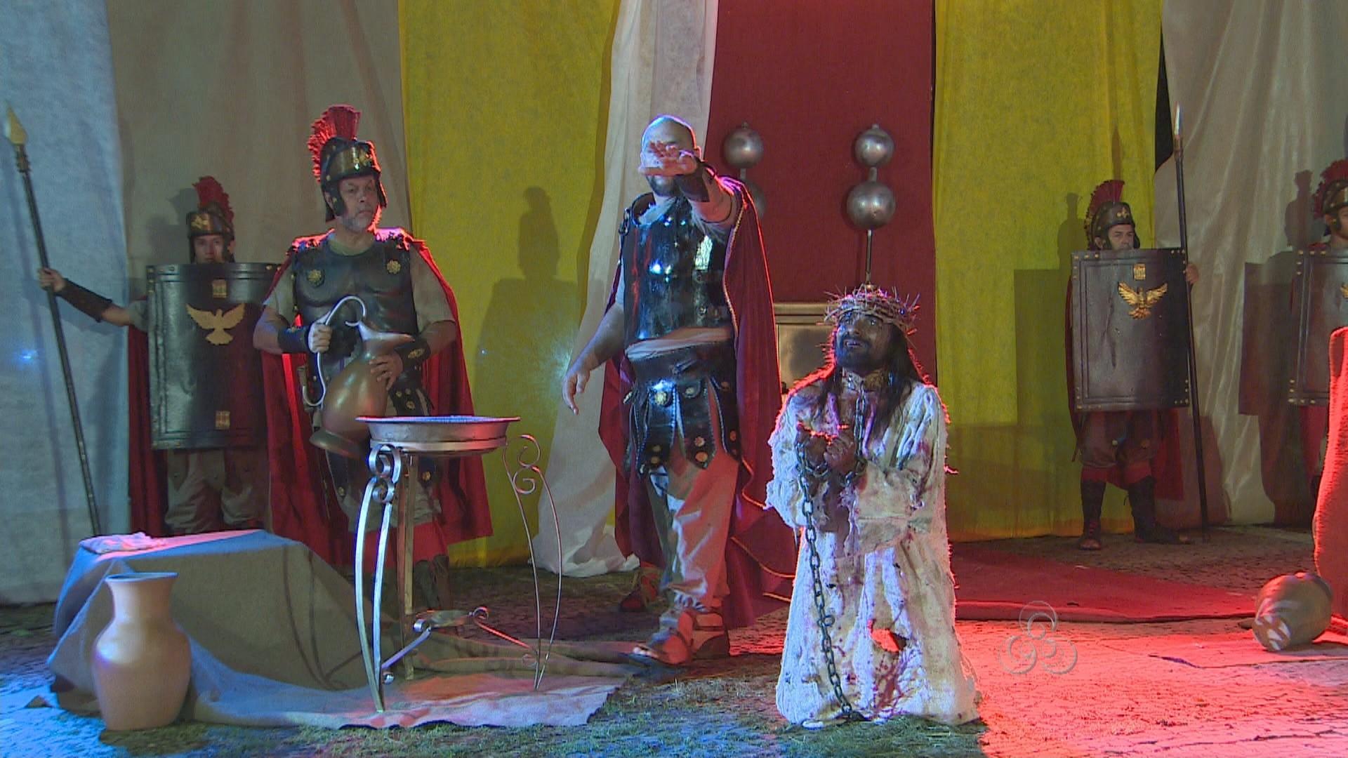 A peça faz parte das apresentações da Semana Santa (Foto: Amazônia TV)