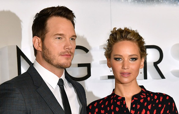 Chris Pratt e Jennifer Lawrence (Foto: Getty Images)