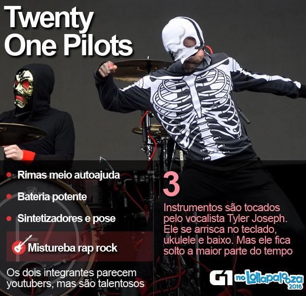 Twenty One Pilots se apresenta no Lollapalooza (Foto: Flavio Moraes/G1)