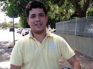 O candidato Wesley Leal está confiante com a aprovação (Foto: Rodrigo Menaros/G1)