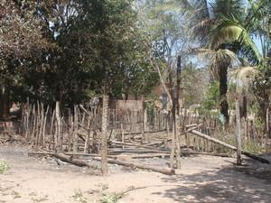 Casa da doméstica Lúcia não restou nada (Foto: Juliana Barros/G1)