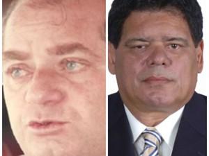 Orleir Cameli (a direita) e Flaviano Melo disputaram o segundo turno nas eleições de 1994, no Acre (Foto: Reprodução)