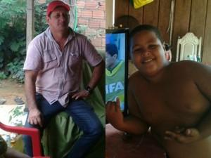 Pai e filho desapareceram entre o dia 1º e 2 de março. Família e polícia buscam pistas (Foto: Arquivo Pessoal)