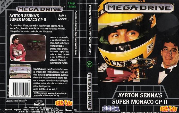 Ayrton Senna Monaco GP 2 era um dos muitos jogos de corrida do Mega (Foto: Reprodução/Nostalgia Mania)