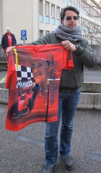 Roberto Fantini fã Schumacher (Foto: Felipe Siqueira)