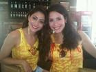 Carol Castro e Juliana Knust já estão curtindo o carnaval em Salvador